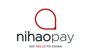 nihaopay center red logo tagline