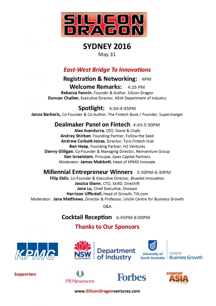 front Sydney program front__Silicon Dragon 2016