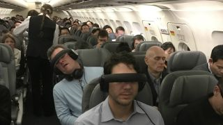 VR headsets on planes